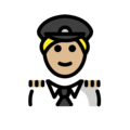 Man Pilot: Medium-Light Skin Tone on OpenMoji 12.0