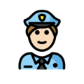 Man Police Officer: Light Skin Tone on OpenMoji 12.0