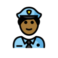 Man Police Officer: Medium-Dark Skin Tone on OpenMoji 12.0