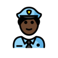 Man Police Officer: Dark Skin Tone on OpenMoji 2.0