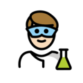 Man Scientist: Light Skin Tone on OpenMoji 12.0