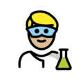 Man Scientist: Medium-Light Skin Tone on OpenMoji 12.0