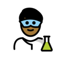 Man Scientist: Medium-Dark Skin Tone on OpenMoji 12.0
