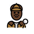 Man Detective: Dark Skin Tone on OpenMoji 12.0
