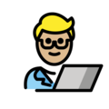 Man Technologist: Medium-Light Skin Tone on OpenMoji 12.0