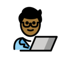 Man Technologist: Medium-Dark Skin Tone on OpenMoji 12.0
