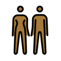 Woman and Man Holding Hands: Medium-Dark Skin Tone on OpenMoji 12.0