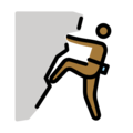 Man Climbing: Medium-Dark Skin Tone on OpenMoji 12.0