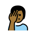 Man Facepalming: Medium-Dark Skin Tone on OpenMoji 12.0