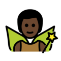 Man Fairy: Dark Skin Tone on OpenMoji 2.0
