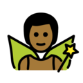 Man Fairy: Medium-Dark Skin Tone on OpenMoji 12.0