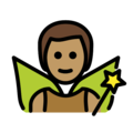 Man Fairy: Medium Skin Tone on OpenMoji 12.0