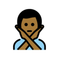 Man Gesturing No: Medium-Dark Skin Tone on OpenMoji 12.0