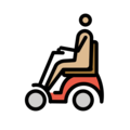 Man in Motorized Wheelchair: Medium-Light Skin Tone on OpenMoji 2.0