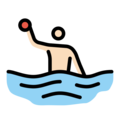 Man Playing Water Polo: Light Skin Tone on OpenMoji 12.0