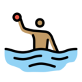 Man Playing Water Polo: Medium Skin Tone on OpenMoji 12.0
