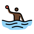 Man Playing Water Polo: Dark Skin Tone on OpenMoji 12.0
