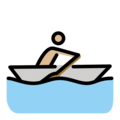 Man Rowing Boat: Medium-Light Skin Tone on OpenMoji 12.0