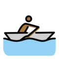 Man Rowing Boat: Medium-Dark Skin Tone on OpenMoji 12.0