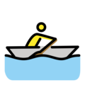 Man Rowing Boat on OpenMoji 12.0
