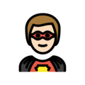 Man Superhero: Light Skin Tone on OpenMoji 12.0