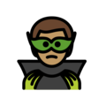 Man Supervillain: Medium Skin Tone on OpenMoji 12.0