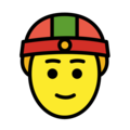 Man With Skullcap on OpenMoji 12.0