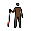 Man With Probing Cane: Dark Skin Tone on OpenMoji 2.0