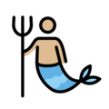 Merman: Medium-Light Skin Tone on OpenMoji 12.0