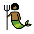 Merperson: Medium-Dark Skin Tone on OpenMoji 12.0