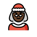 Mrs. Claus: Dark Skin Tone on OpenMoji 12.0