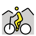 Person Mountain Biking on OpenMoji 12.0