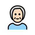 Older Person: Light Skin Tone on OpenMoji 12.0
