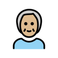 Older Person: Medium-Light Skin Tone on OpenMoji 12.0