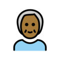 Older Person: Medium-Dark Skin Tone on OpenMoji 12.0