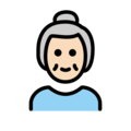 Old Woman: Light Skin Tone on OpenMoji 12.0
