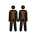 People Holding Hands: Dark Skin Tone on OpenMoji 12.0