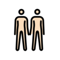 People Holding Hands: Light Skin Tone on OpenMoji 12.0