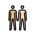 People Holding Hands: Medium-Light Skin Tone, Light Skin Tone on OpenMoji 12.0