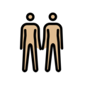 People Holding Hands: Medium-Light Skin Tone on OpenMoji 12.0