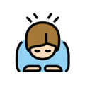 Person Bowing: Light Skin Tone on OpenMoji 12.0