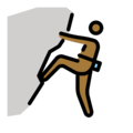 Person Climbing: Medium-Dark Skin Tone on OpenMoji 12.0
