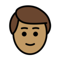 Person: Medium Skin Tone, Blond Hair on OpenMoji 12.0