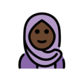Woman With Headscarf: Dark Skin Tone on OpenMoji 12.0