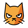 Pouting Cat Face on OpenMoji 12.0
