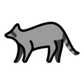 Raccoon on OpenMoji 12.0