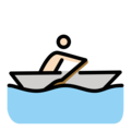 Person Rowing Boat: Light Skin Tone on OpenMoji 12.0