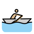 Person Rowing Boat: Medium-Light Skin Tone on OpenMoji 12.0