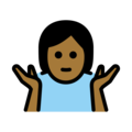 Person Shrugging: Medium-Dark Skin Tone on OpenMoji 12.0