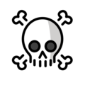 Skull and Crossbones on OpenMoji 2.0